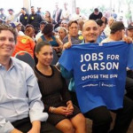 Union members pack the seats