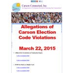 Allegations of Carson Election Code Violations