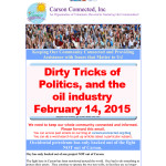 Dirty tricks of politics and the oil industry
