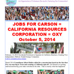 JOBS FOR CARSON CALIFORNIA RESOURCES CORPROATION OXY