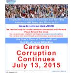 Carson Corruption Continues
