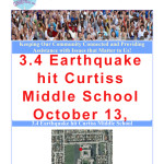 Earthquake hit Curtiss Middle School