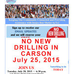 NO NEW DRILLING IN CARSON