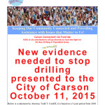New evidence needed to stop drilling has been presented to the City of Carson