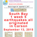 South Bay 1 week 5 earthquakes