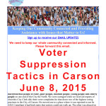 Voter Suppression Tactics in Carson